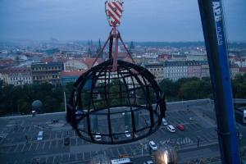 Ocelová kopule - Fantova Budova na Hlavním nádraží